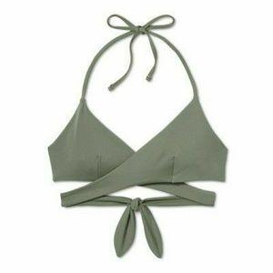 Tori Praver Halter Wrap Bikini Top